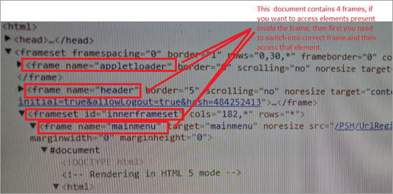 frames are embedded in an HTML