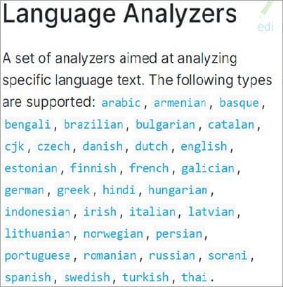 Language Analyzer