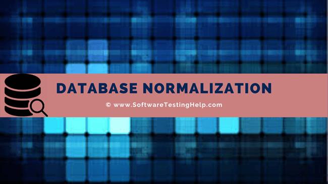 Database Normalization Tutorial
