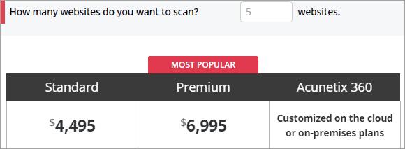 Acunetix Pricing