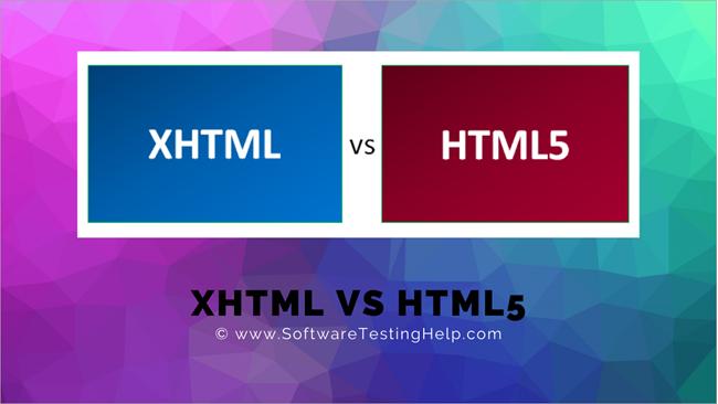 XHTML Vs HTML5