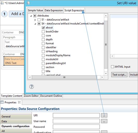 select script expression