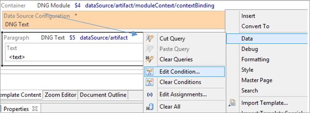 Edit condition