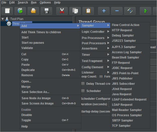 Add Jmeter elements