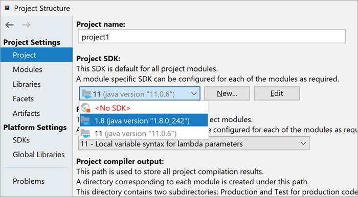 Update Project SDK