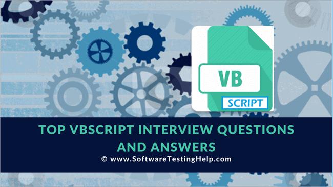 VBScript Interview Questions