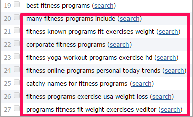 Selecting the fitness programs of your choice