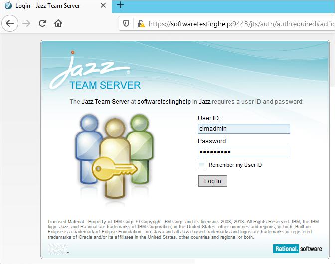 login to application