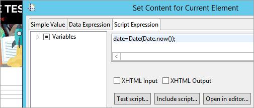 script expression