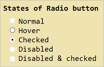 states of Radio Button