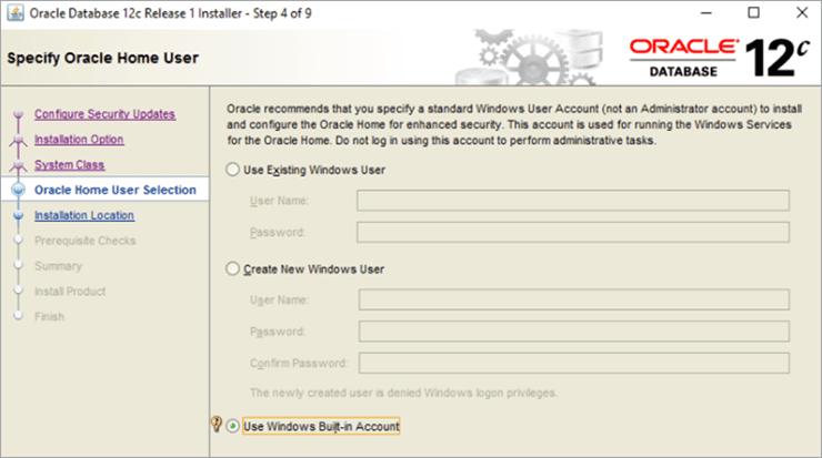 Step4: Windows User Account details
