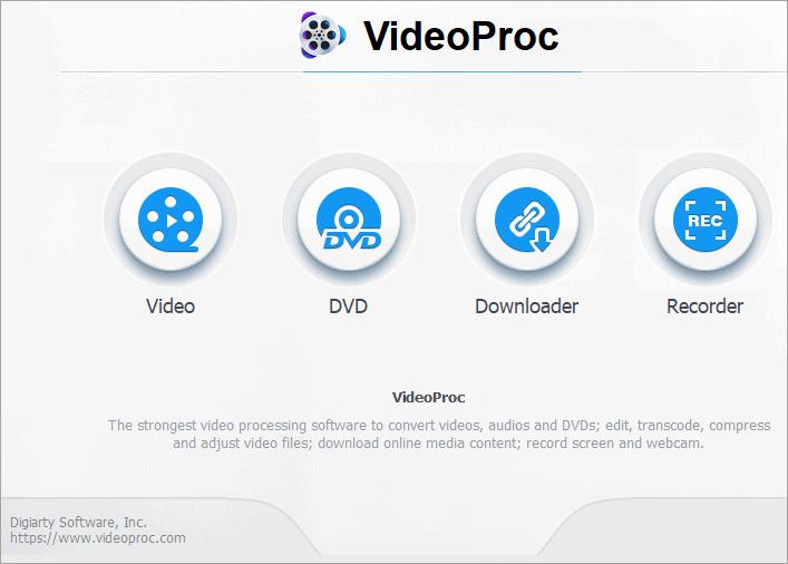 set to start using VideoProc