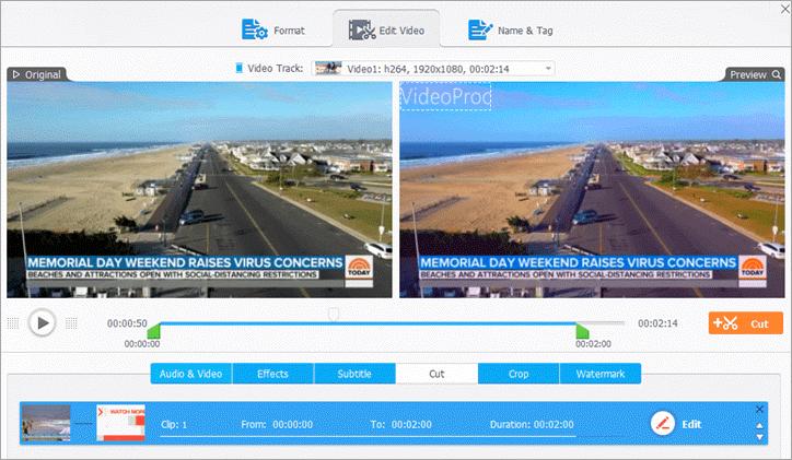 original vs preview view