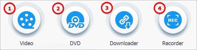 VideoProc has four main components