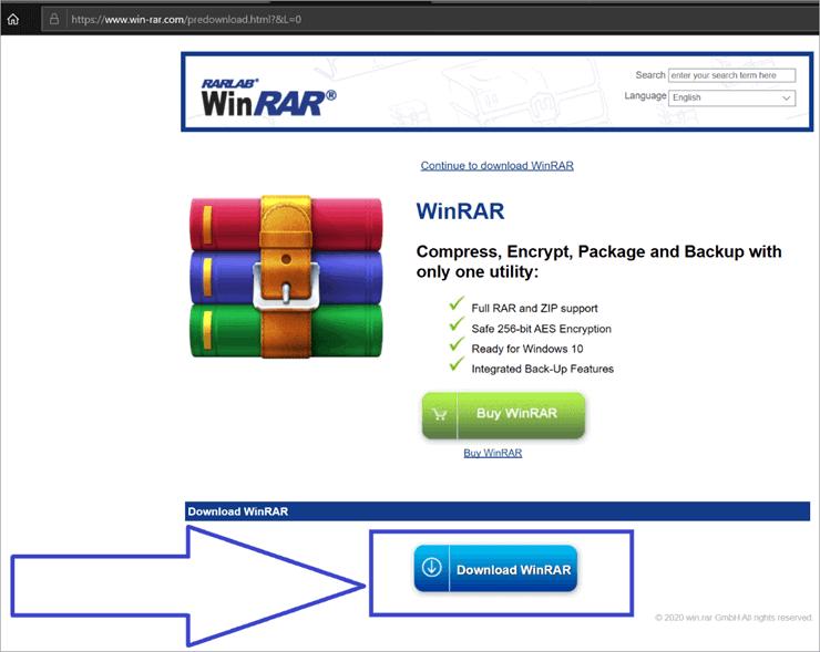 Click the Download WINRAR button