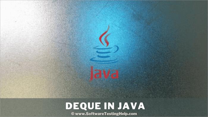 Deque In Java