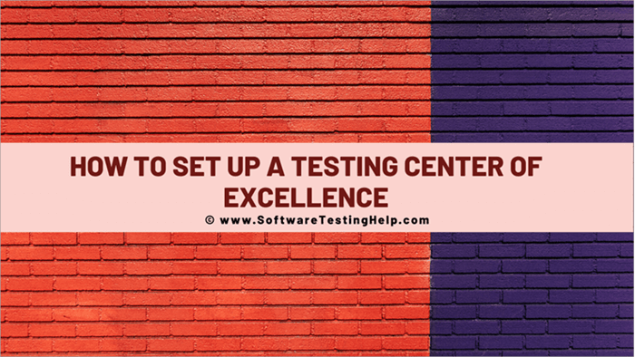 How to Set Up a Testing Centerof Excellence