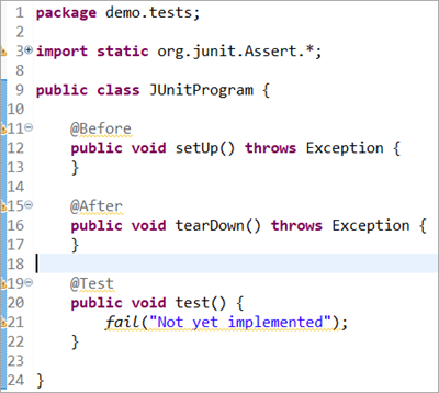 default template of the class file