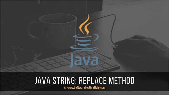 Java String - replace method