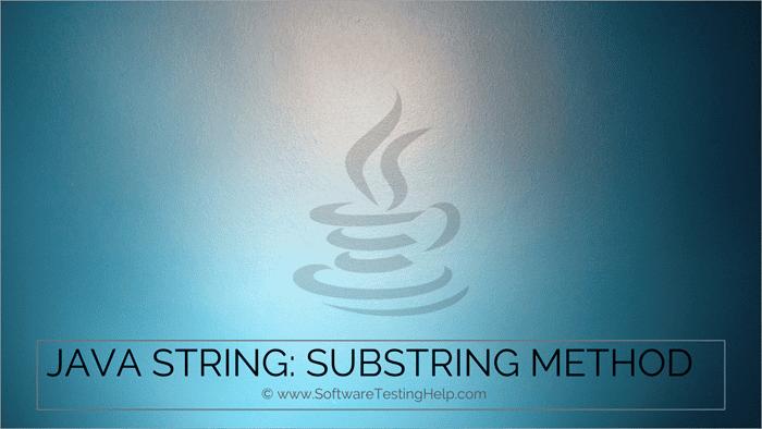 Java String - substring method