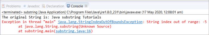 Scenario 2 - Java Substring