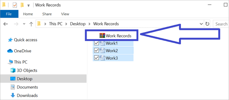 Work Records File