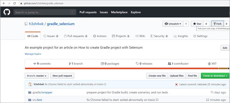 creation of a Github account