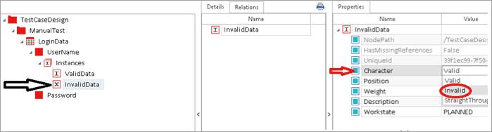 Invalid data value