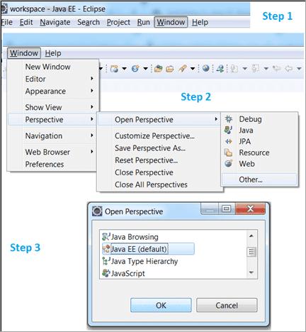 Steps to set Java EE perspective