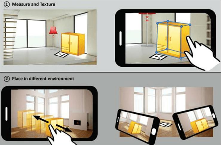 A marker-based mobile based AR furnishing app