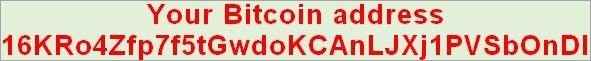 Esempio di indirizzo Bitcoin