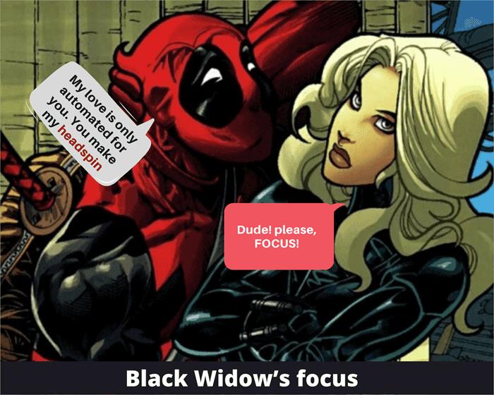 Black Widow's focus
