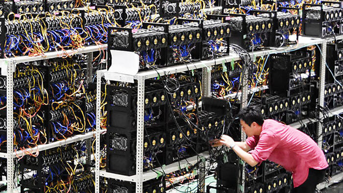 Commercial crypto mining rigs