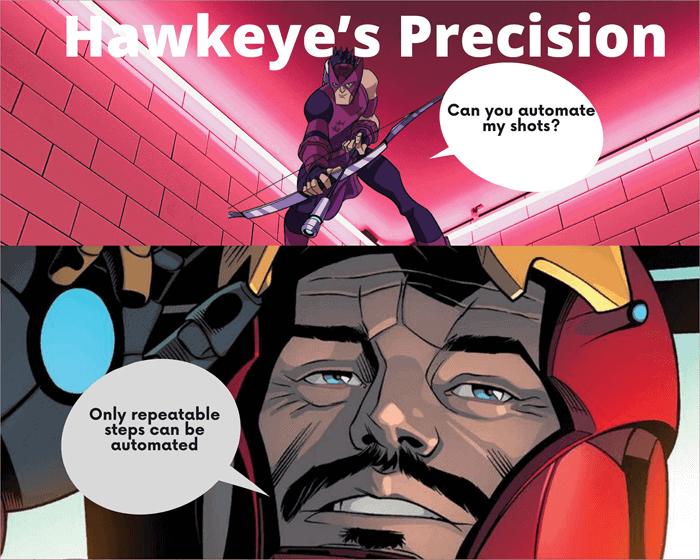 Hawkeye's precision