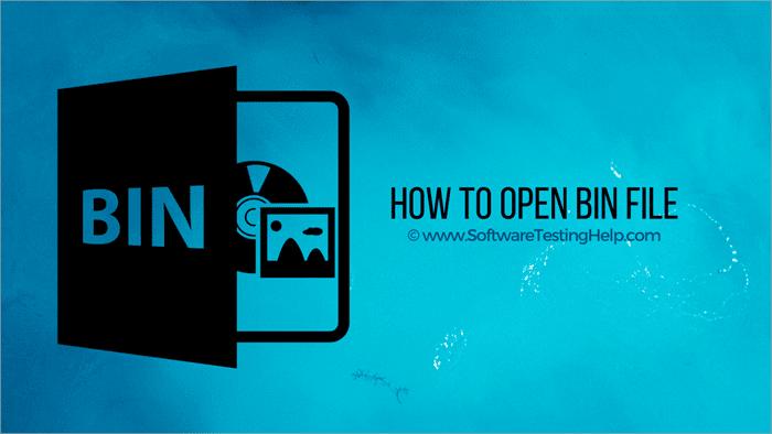 كيفية فتح ملف BIN