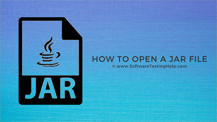 How to Open a JAR File