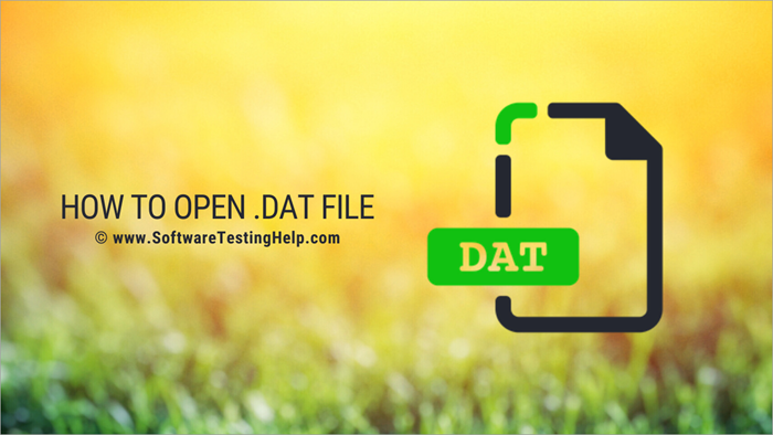 How to open .dat File