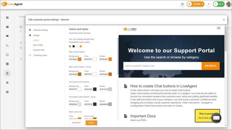 LiveAgent Client Portal
