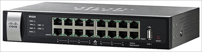 Cisco Systems Gigabit Dual WAN VPN 14 Port Router