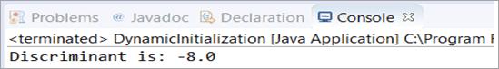 Output - Dynamic Initialization