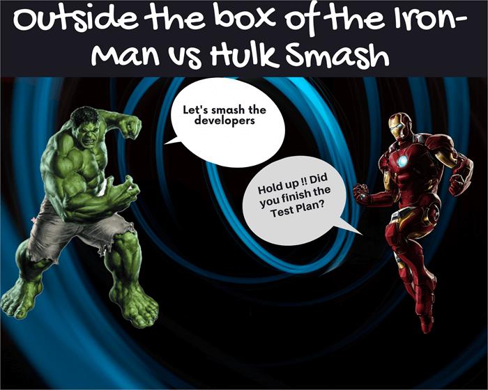 Outside the box of the Iron-Man vs Hulk Smash