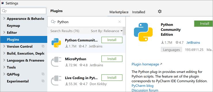 Python Community Edition Plugin