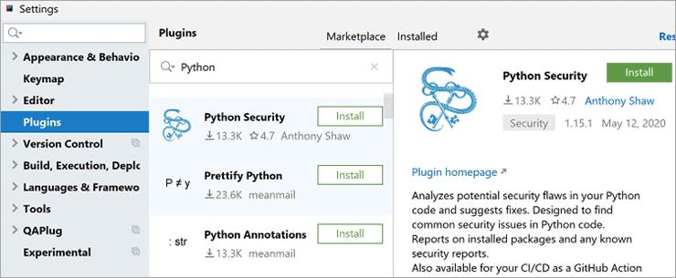 Python Security Plugin