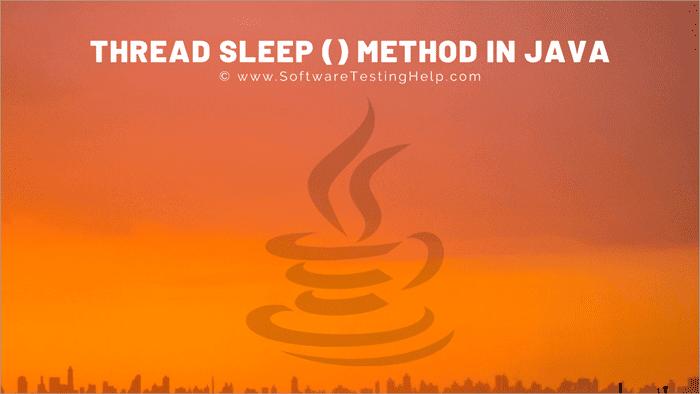 Thread Sleep() method in Java