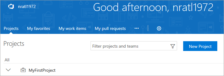 create additional VSTS projects