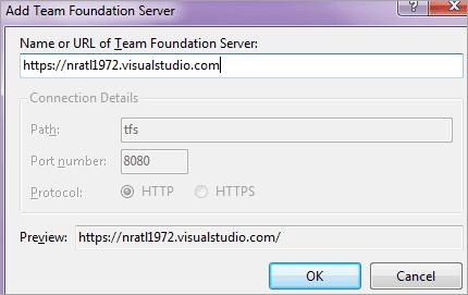 Add the VSTS URL