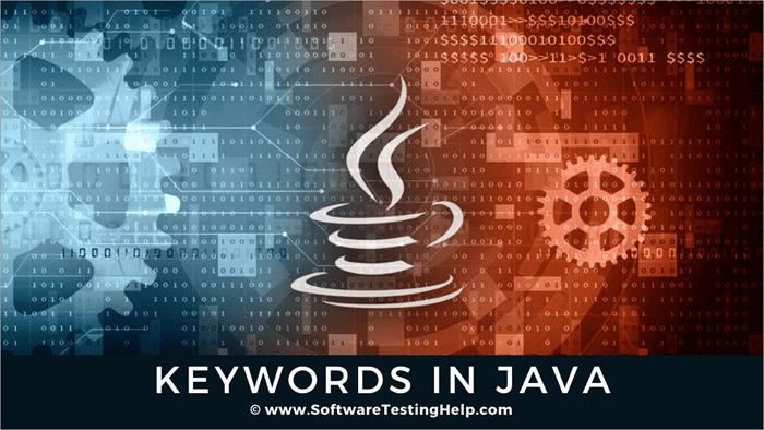 keywords in Java