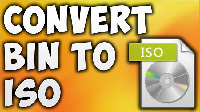 Converting a BIN File to ISO Format