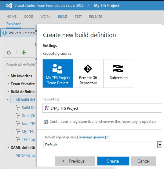 59Creating Build settings