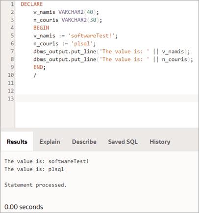 Assignment concept output